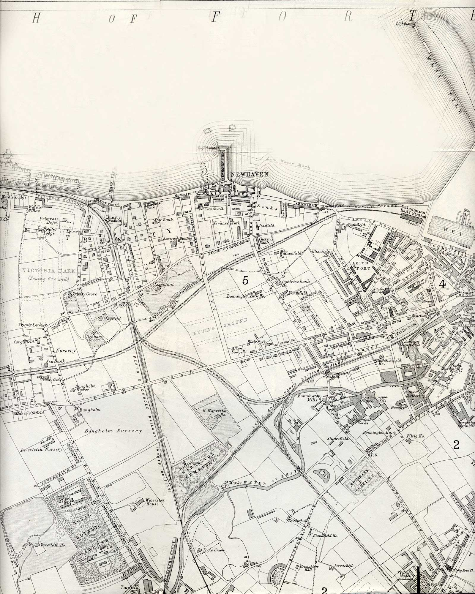 Map of Edinburgh and Leith. 1870  -  North Edinburgh Section