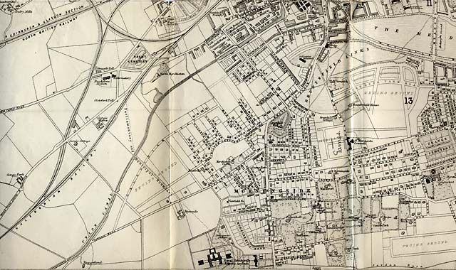 Map of Edinburgh and Leith. 1870  -  South Edinburgh Section