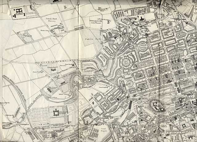 Map of Edinburgh and Leith. 1870  -  West Edinburgh Section