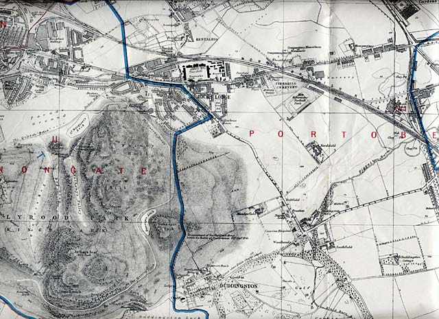 Edinburgh and Leith map, 1915  -  East Edinburgh section