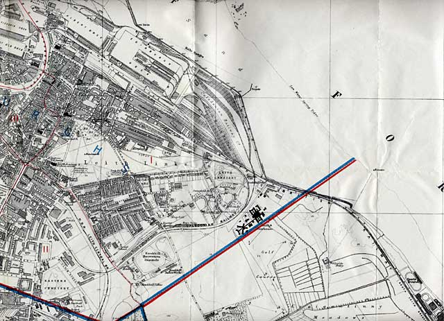 Edinburgh and Leith Map, 1915  -  North-east Edinburgh section