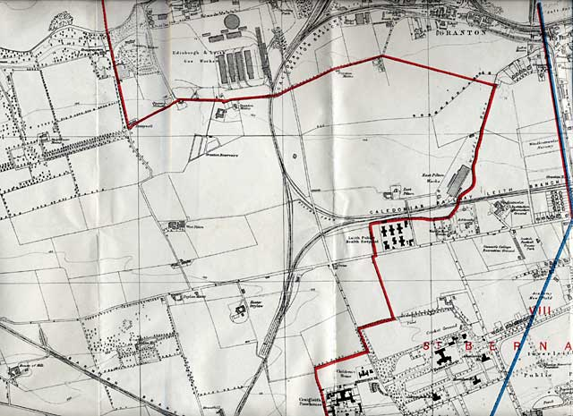 Edinburgh and Leith Map, 1915  -  North-west Edinburgh section