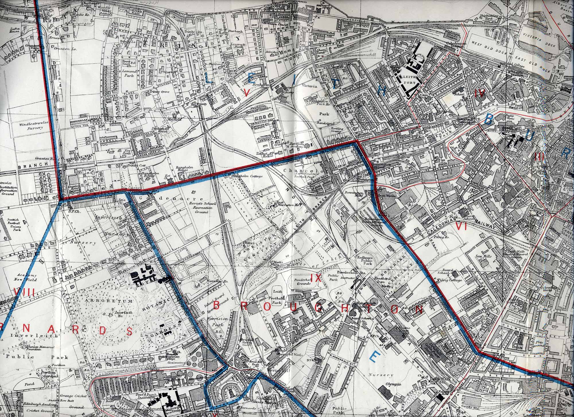 Edinburgh and lEITH MAP, 1915  -  North Ediinburgh Section