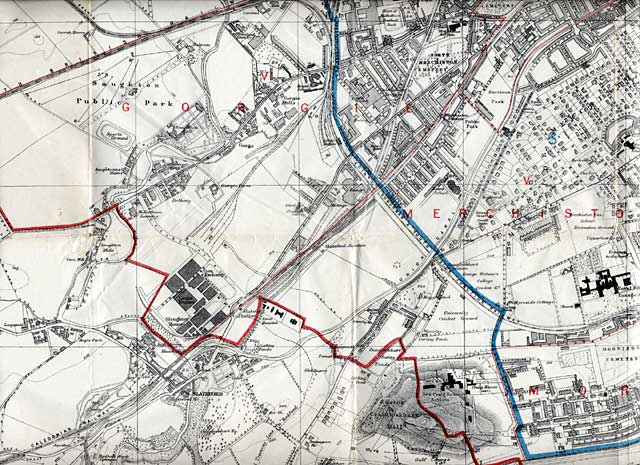 Edinburgh and Leith map, 1915  -  South-west Edinburgh section