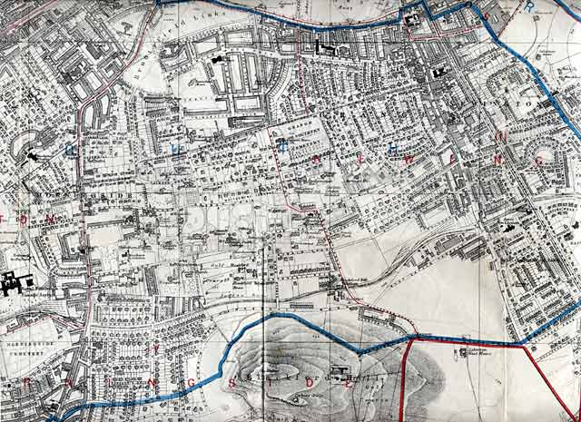 Edinburgh and Leith map, 1913  -  South Edinburgh section