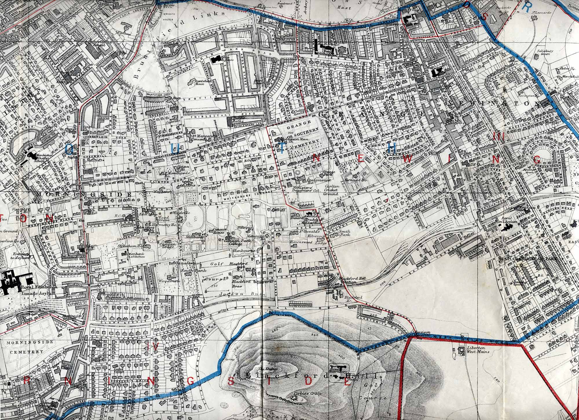 Edinburgh and Leith map, 1915  -  South Edinburgh section