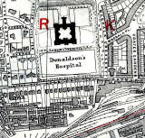 Map  -  Edinburgh 1915  -  Donaldson's Hospital and Wester Coates