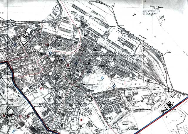 Map of Edinburgh and Leith. 1915  -  Leith Section