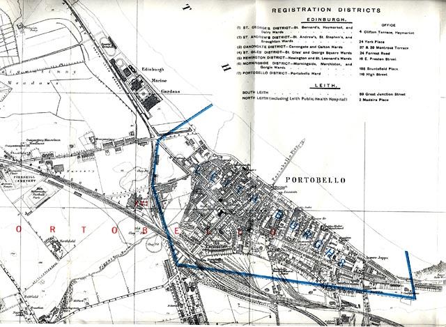 Map of Edinburgh and Leith. 1915  -  Portobello Section