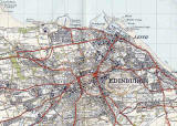 Map by John Bartholomew & Son Ltd.  -  Edinburgh, 1925