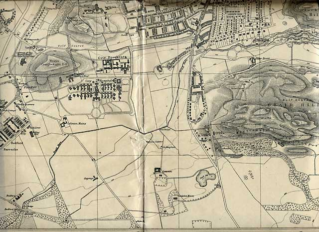 Edinburgh and Leith map, 1925  -  Craiglockhart and Slateford section