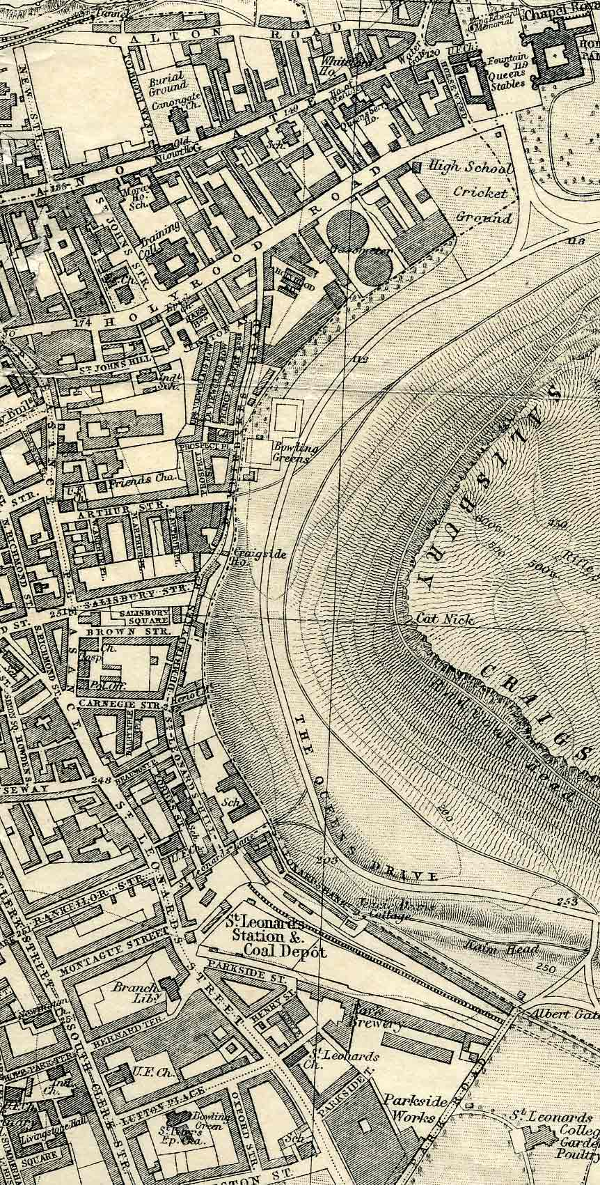 Edinburgh and Leith map, 1925  -  Dumbiedykes and St Leonard's