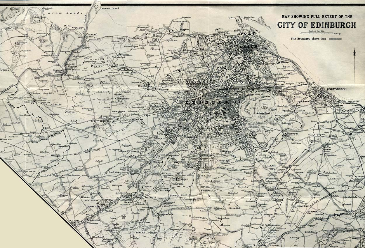 Map by John Bartholemew & Son Ltd.  -  The whole city of Edinburgh, 1925