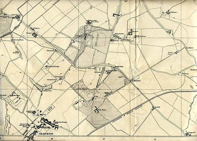 Edinburgh and Leith map, 1925  -  Gilmerton section