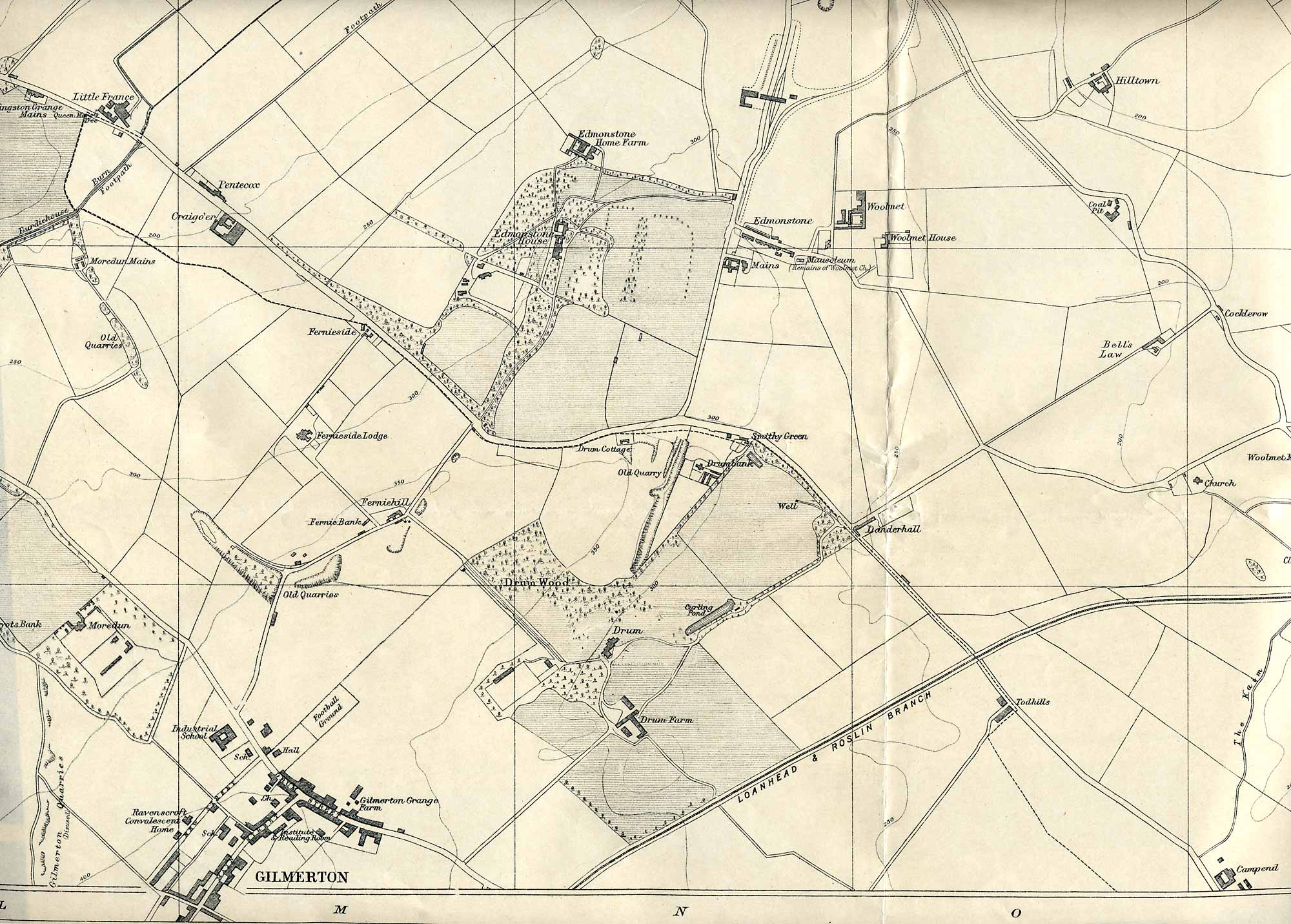 Edinburgh and Leith map, 1925  -  Gilmerton section  -  Enlarged