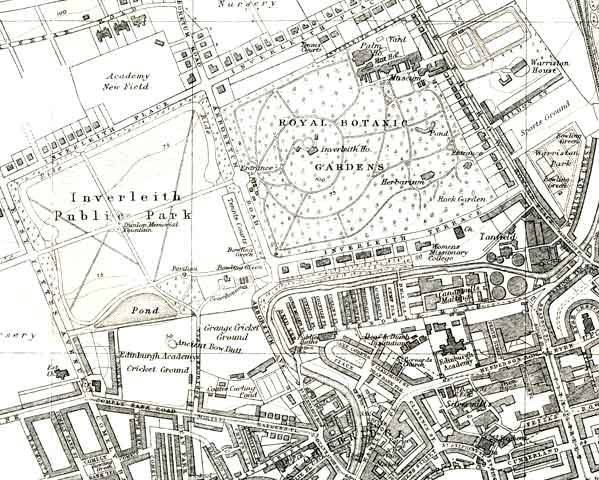 Edinburgh and Leith map, 1925  -  Inverleith