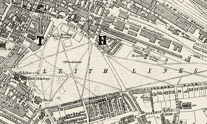 Edinburgh and Leith map, 1925  -  Leith Links