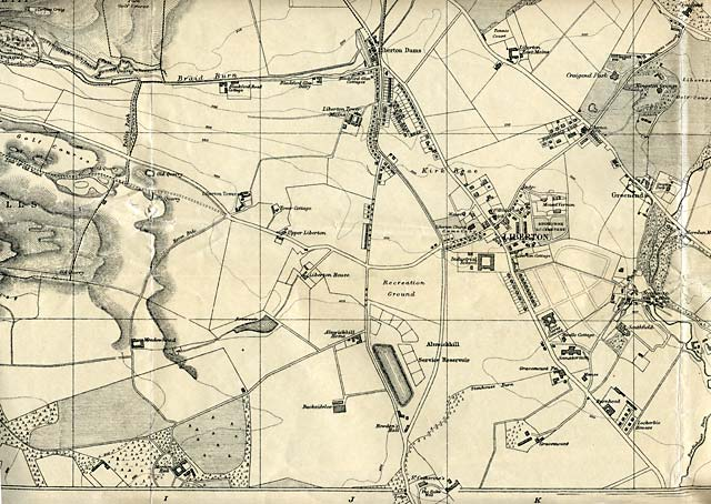 Edinburgh and Leith map, 1925  -  Liberton section