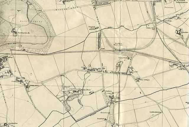 Edinburgh and Leith map, 1925  -  Niddrie and Craigmillar  -  before the housing estates were built