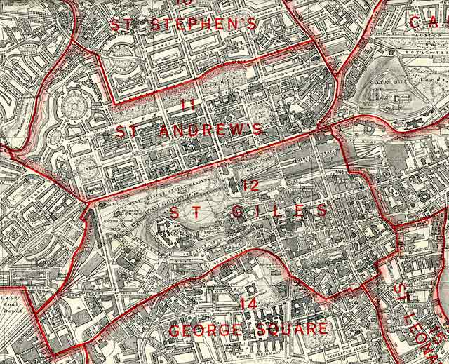 Edinburgh and Leith map, 1940  -  Central Edinburgh section
