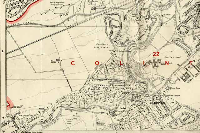 Edinburgh and Leith map, 1940  -  Juniper Green and Colinton section