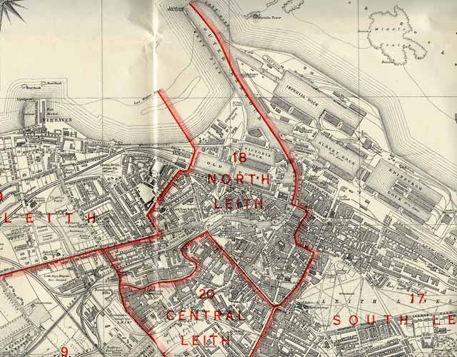 Edinburgh and Leith map, 1940  -  Leith section