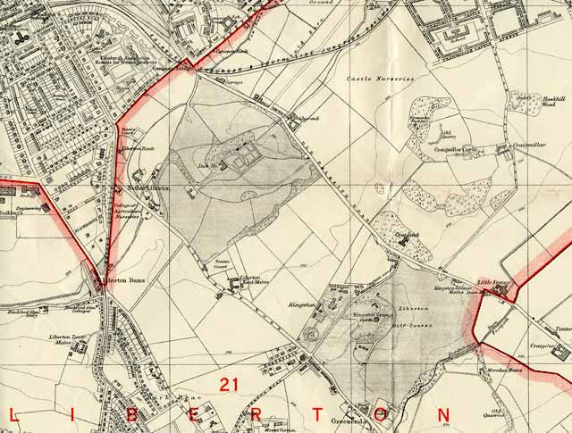 Edinburgh and Leith map, 1940  -  Liberton section