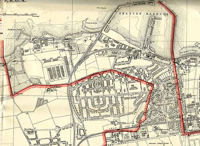 Edinburgh and Leith map, 1940  -  North-west Edinburgh section
