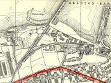 Extract from 1940 Map  - Railway Lines around Granton Gas Works and Granton Harbour