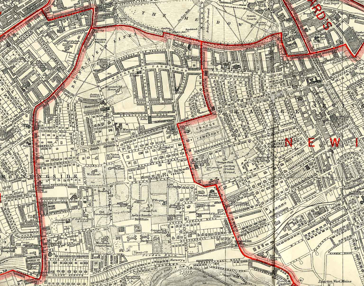 Edinburgh and Leith map, 1925  -  North Edinburgh section