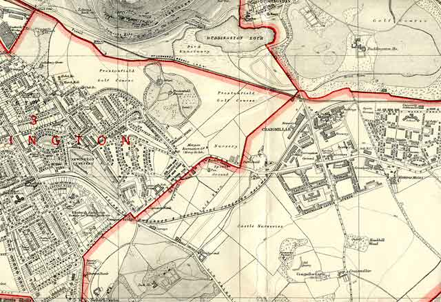 Edinburgh and Leith map, 1940  -  South-east Edinburgh section