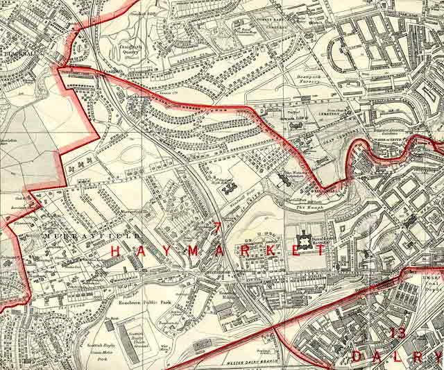 Edinburgh and Leith map, 1940  -  West Edinburgh section