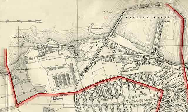 Edinburgh and Leith map, 1940  -  Edinburgh Waterfront section