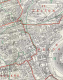 Edinburgh and Leith map, 1955  -  Central Edinburgh (East)