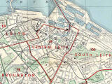 Edinburgh and Leith map, 1955  -  Leith section