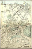 Edinburgh and Leith  -  1884 map  -  Railways and Roads