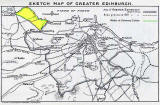 Map of Edinburgh Boundaries before and after 1920 - also showing the Dalmeny Estate