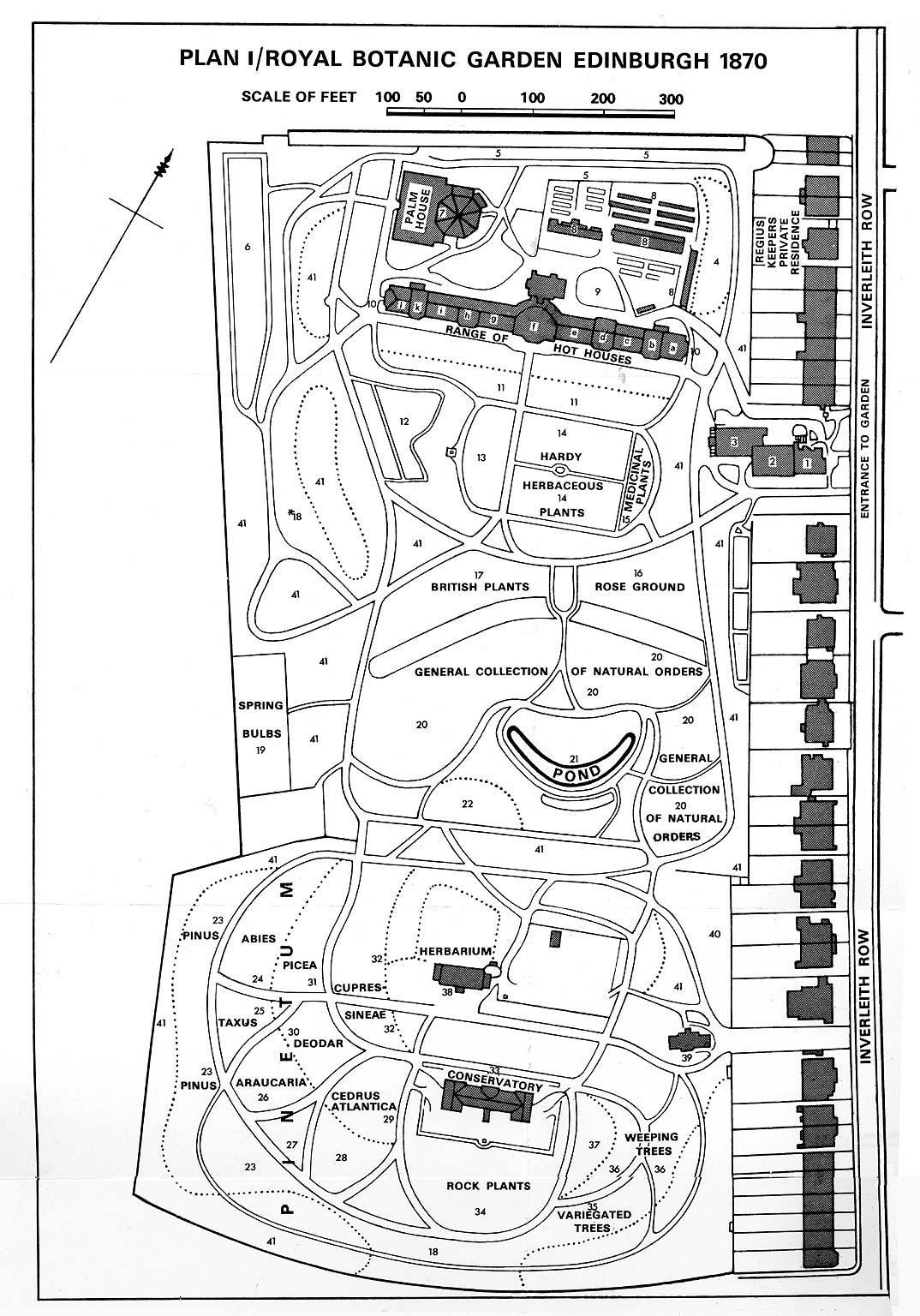 Botanic Garden Inverleith 1870