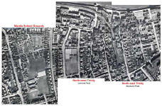 Aerial views of Trinity  -  1947