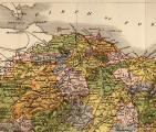 Map of Edinburghshire, 1884  -  One quarter of the map, enlarged