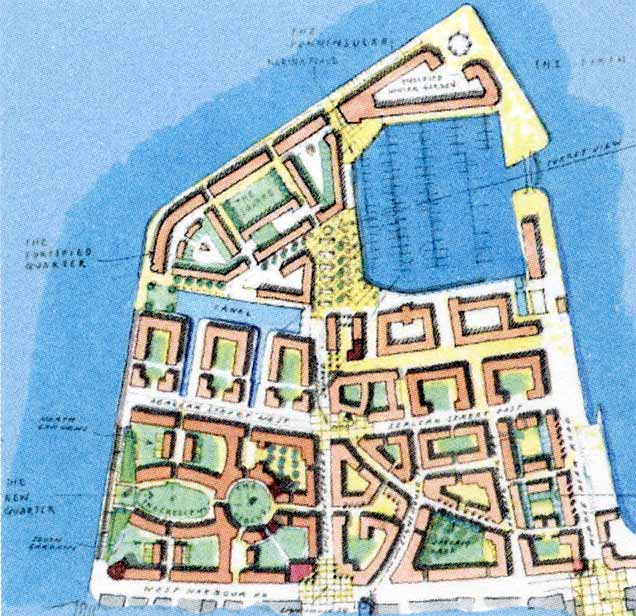 Forthside -  Plan of Granton Western Harbour  -   part of the Forthside Masterplan