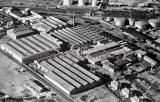 An aerial view of United Wire Works, off West Granton Road, SW of Granton Harbour