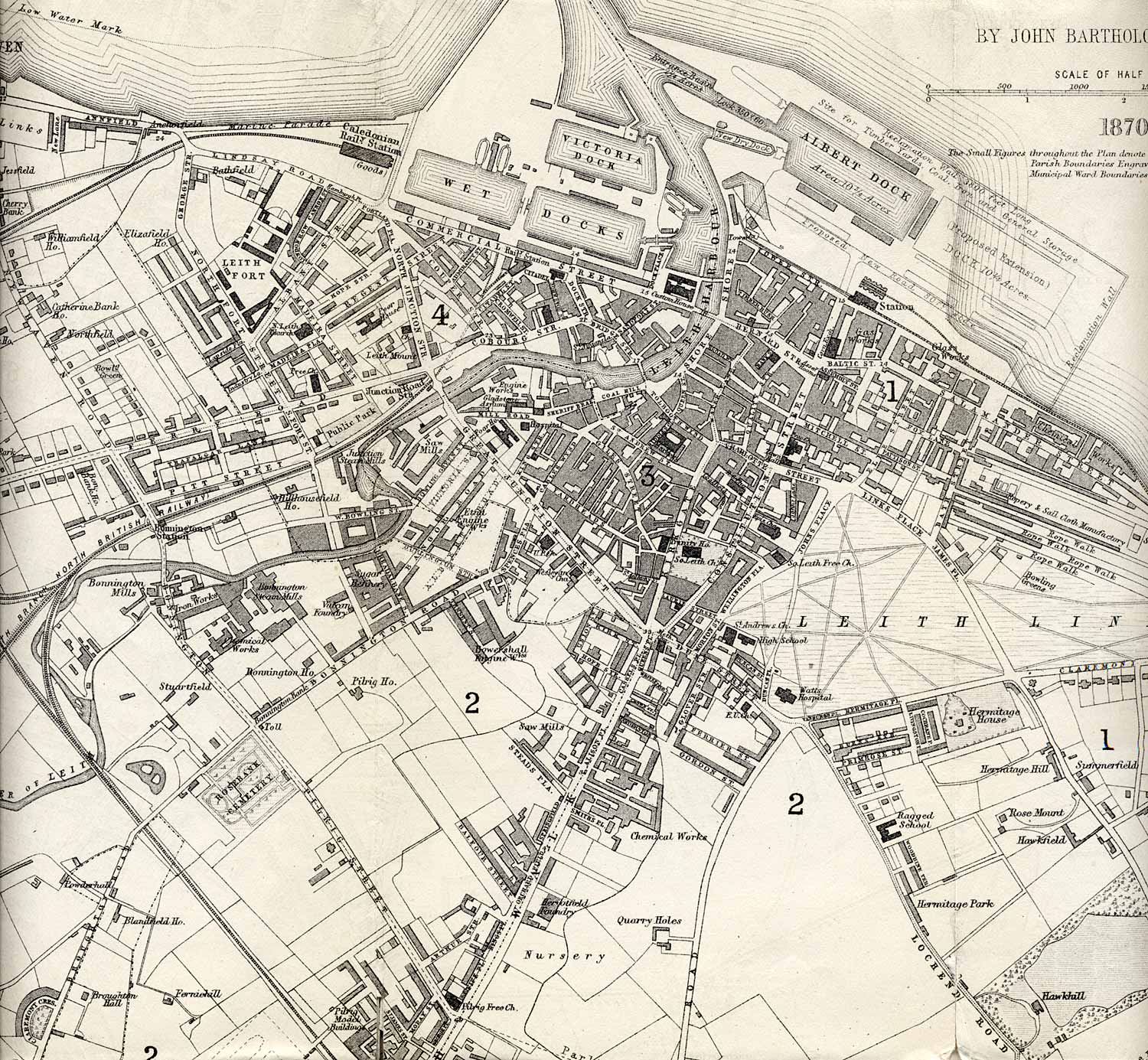 Leith map 1870 enlarged