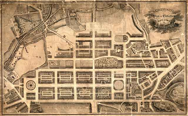 Edinburgh New Town  -  Kirkwood Map, 1819