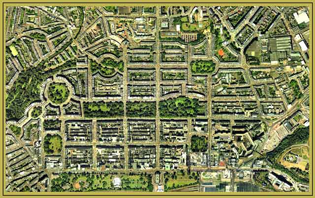 Edinburgh New Town  -  Aerial Photo, 2001