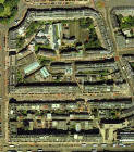 Detail from an aerial photograph of Edinburgh  -  Digital Map Co, 2001  -  Broughton