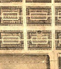 Detail from map of Edinburgh New Town  -  Kirkwood, 1819  -  First New Town, central section