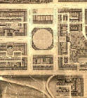 Detail from map of Edinburgh New Town  -  Kirkwood, 1819  -  Edinburgh New Town, east section