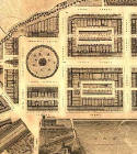 Detail from map of Edinburgh New Town  -  Kirkwood, 1819  -  First New Town, west section