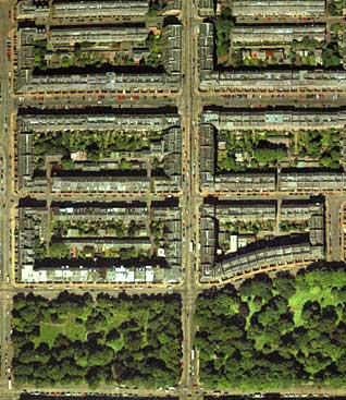 Detail from an aerial photograph of Edinburgh  -  XYZ Digital Map Co  -  Second New Town